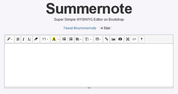 Summernote是一个轻量级、灵活基于Bootstrap和jQuery的HTML文本编辑器