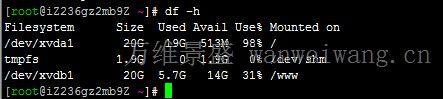 23 阿里云系统盘满了?一条命令解决阿里云服务器系统盘空间不足问题
